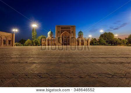 Tashkent / Uzbekistan - August 1st 2029: Barak-khan Madrasah A Monument In Central Tashkent Built In