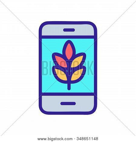 Smart Farm Icon Vector. A Thin Line Sign. Isolated Contour Symbol Illustration