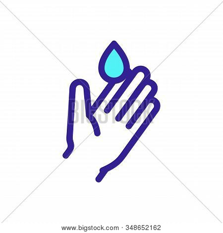 Wash Your Hands Icon Vector. A Thin Line Sign. Isolated Contour Symbol Illustration
