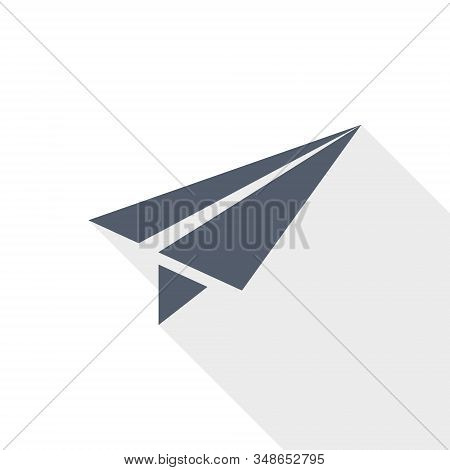 Paper Plane Vector Icon, Fly, Flight, Airplane Conept Illustration