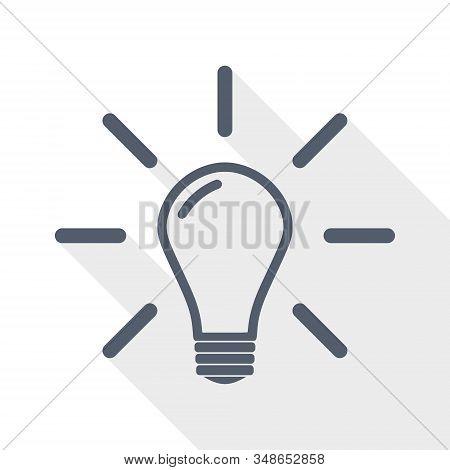 Idea Vector Icon, Solution, Bulb, Innovation Concept Illustration