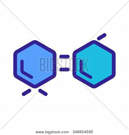 Chemical Formula Icon Vector. A Thin Line Sign. Isolated Contour Symbol Illustration