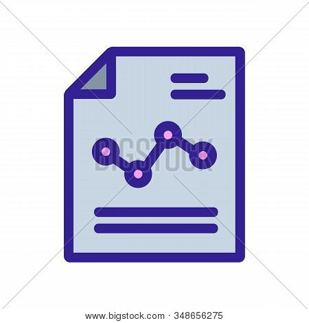 Description Of The Graph Icon Vector. A Thin Line Sign. Isolated Contour Symbol Illustration