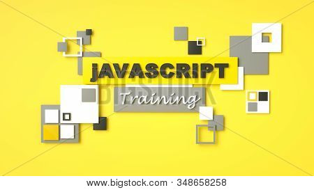 3d Render Of Javascript Training. Programming Training. Coding Concept. Javascript Language E-learni