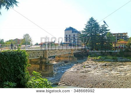 The White Bridge Over The River Rioni, One Of The Symbol Of Kutaisi City, Georgia, 19th Sep 2019