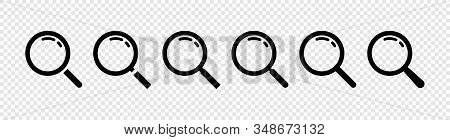 Magnifying Glasses Icons. Search. Search Icons. Set Of Search Symbols. Magnifier Or Loupe Icons. Mag