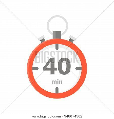 The Red Minute With The 40 Minute Is Depicted On A White Background.