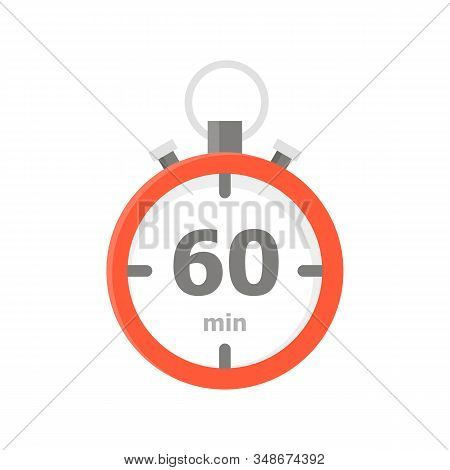 The Red Minute With The 60 Minute Is Depicted On A White Background.