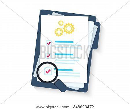 Service Clipboard. Clipboard Or Checklist. Technical Check List. Technical Support Check List, Magni