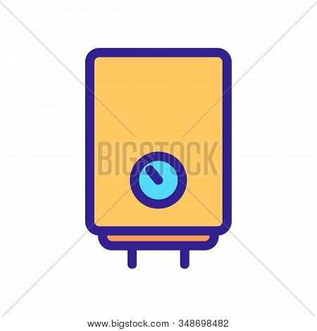 Water Heater Icon Vector. A Thin Line Sign. Isolated Contour Symbol Illustration