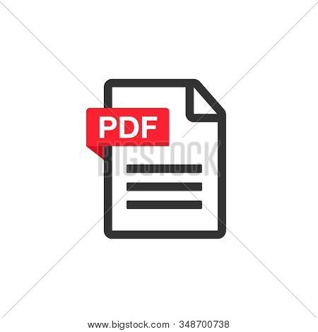 Pdf File Download Icon. Document Text, Symbol Web. Document Icon Set