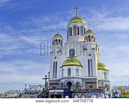 Yekaterinburg, Russia-10/20/2019: Church On Blood Was Built On The Site Of Ipatiev House,where The L