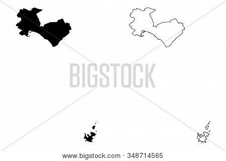 Palma De Mallorca City (kingdom Of Spain, Balearic Islands) Map Vector Illustration, Scribble Sketch