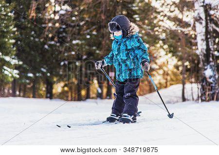 Happy Boy On A Ski Trip