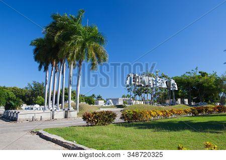 Havana, Cuba - January 21,2017: Necropolis Cristobal Colon.the Main Cemetery Of Havana. The Colon Ce