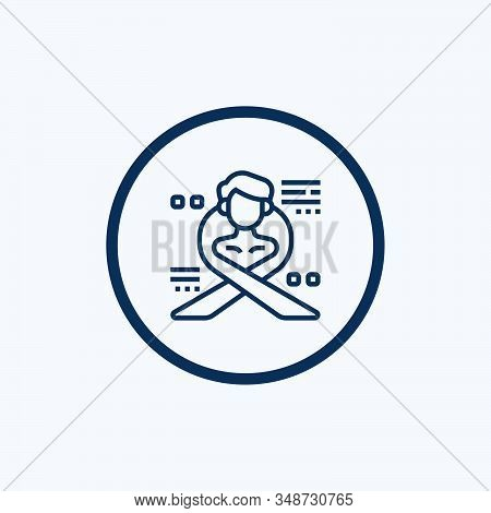 Donor Icon Vector From Blood Donation Collection. Thin Line Donor Outline Icon Vector Illustration.