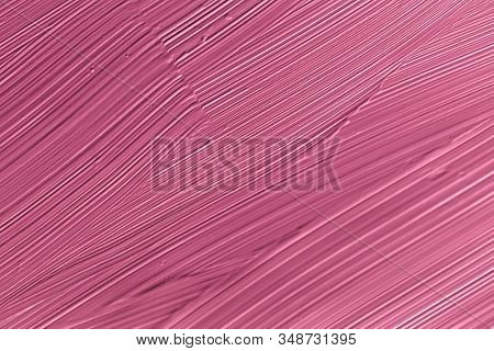 Cosmetics Abstract Texture Background, Pink Acrylic Paint Brush Stroke, Textured Cream Product As Ma