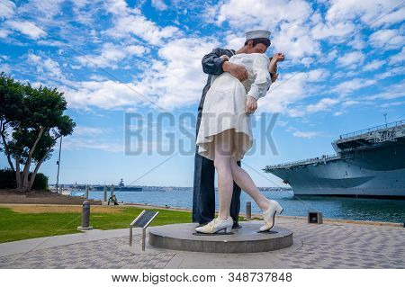 San Diego, Ca - June 30: Unconditional Surrender Sculpture At Sea Port In San Diego. By Seward Johns