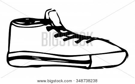 Vector Illustration Of Sport Shoes Sneakers Gym-shoes.
