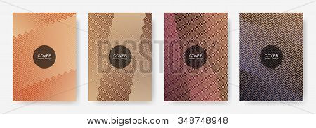 Gradient Zig Zag Stripes Texture Vector Backgrounds For   Cover Layouts. Minimalist Zig Zag Gradient