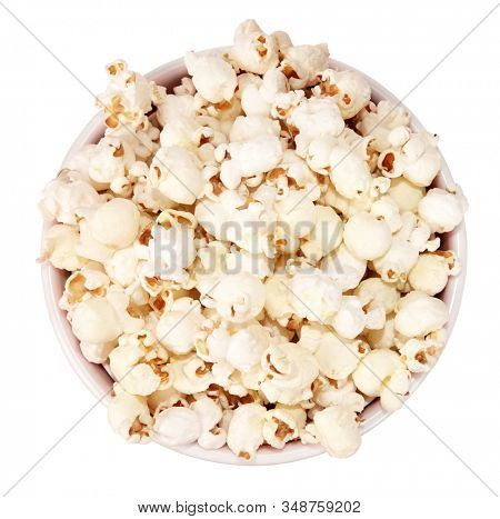 Popcorn cardboard round box for cinema or TV from above