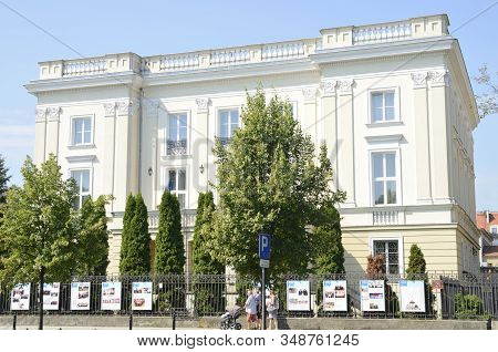 White Building In Avenue Of Warsaw