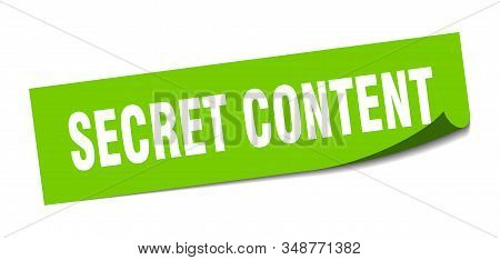 Secret Content Sticker. Secret Content Square Sign. Secret Content. Peeler