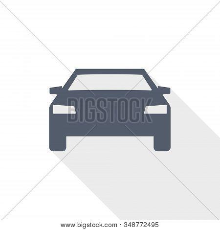 Auto Vector Icon, Transport, Transportation Concept Flat Design Illustration, Car Sign
