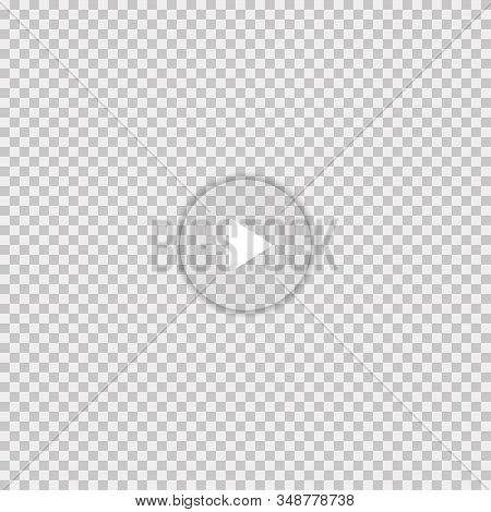 Play Opasity Button With Shadow Isolated On White Background. Simple Play Button Icon Vector. Vector