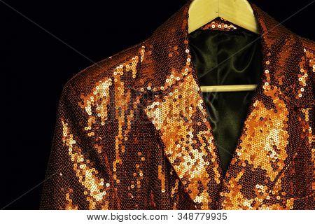 Sparkly golden coloured sequin jacket
