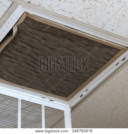 Extremely Dirty Heating And Air Conditioning Vent In Need Of Maintenance