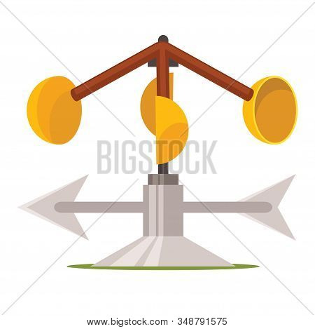 Vector Image A Device Used For Measuring Wind Speed