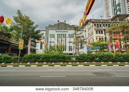 Singapore. January 2020.   The Majestic Is A Historic Building  In Chinatown,  It Was Known As Majes