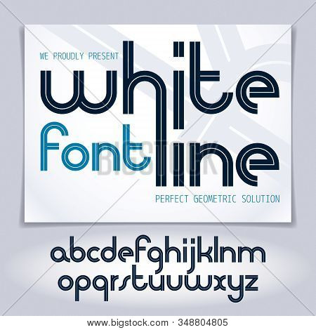 Vector Script, Modern Lowercase Alphabet Letters Set, Best For Use In Corporate Logotype Design.