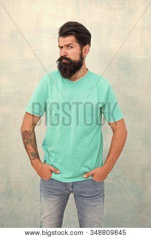 Taking Care Of Facial Hair. Hair Care. Find Best Beard Design Shape For Facial Hair. Bearded Hipster
