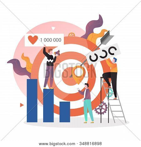 Target Market Strategy Vector Concept For Web Banner, Website Page