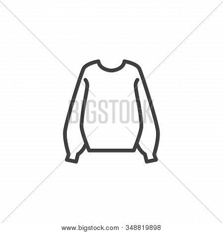 Female Sweater Line Icon. Linear Style Sign For Mobile Concept And Web Design. Women Pullover Sweate