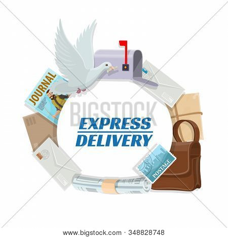 Post Mail Express Delivery, Daily Correspondence Letters And Newspapers Postage Logistics Service. V