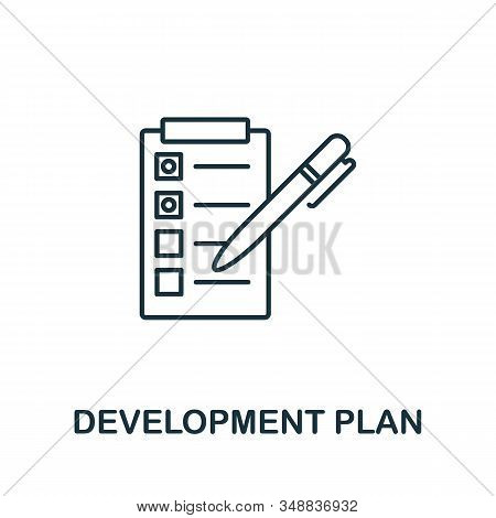 Development Plan Line Icon. Thin Design Style From Programmer Icon Collection. Simple Development Pl