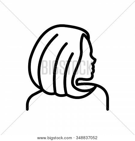 Black Line Icon For Hair Follicle Skin Scalp Style Hormone Anatomy Hygiene Women