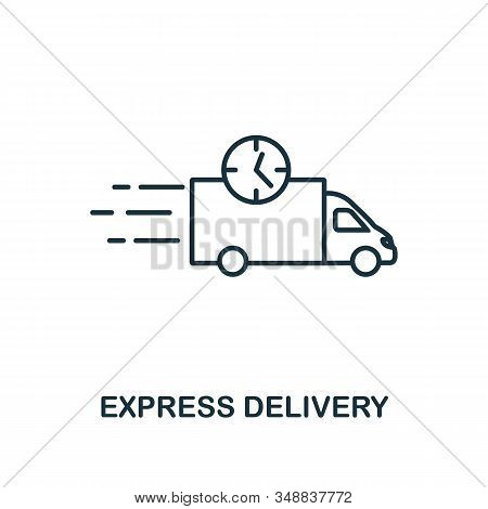 Express Delivery Icon. Monochrome Style Design From Logistics Delivery Icon Collection. Ui. Pixel Pe