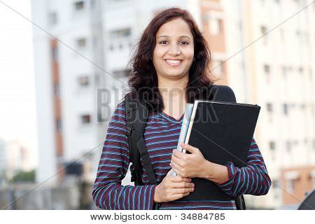 Happy Female Student