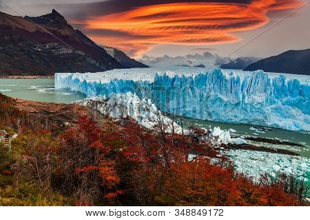 The Perito Moreno Glacier Is A Glacier Located In The Los Glaciares National Park In Santa Cruz Prov