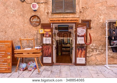 Menorca, Spain - October 14, 2019: Store With Traditional Local Products