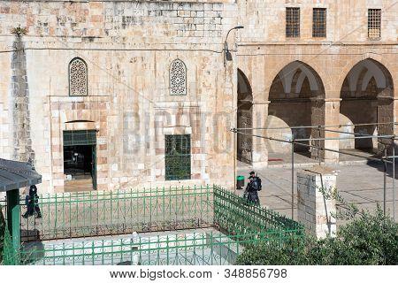 Jerusalem, Israel - May 15, 2018: Israeli Police Troops Patrolling In West Bank, Jerusalem During Th