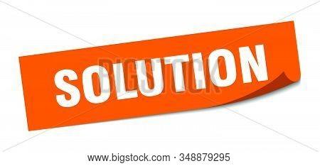 Solution Sticker. Solution Square Sign. Solution. Peeler