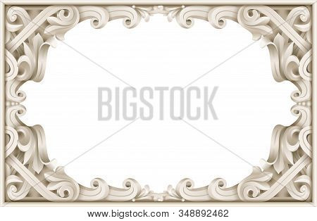 Vintage Classic Frame Of The Rococo Baroque