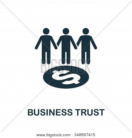 Business Trust Icon. Creative Element Design From Stock Market Icons Collection. Pixel Perfect Busin