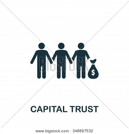 Capital Trust Icon. Creative Element Design From Stock Market Icons Collection. Pixel Perfect Capita