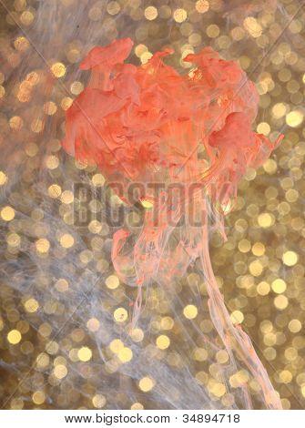 Fragile Flower in Front of Gold